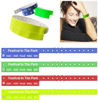 5 Stub Event Wristband